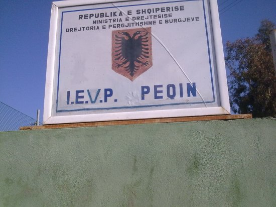 peqin prison sign