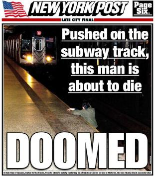 NY-Post-publishes-morbid-cover-photo-of-subway-killing